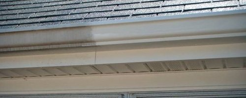 Oxidation on gutters